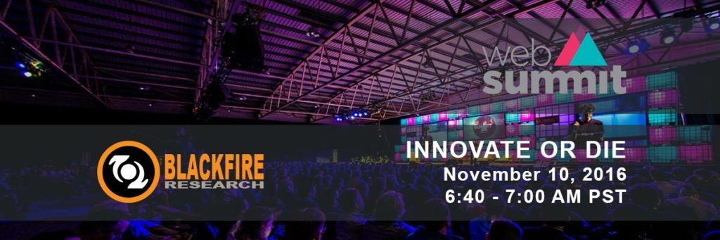 Blackfire Research Founder, Ravi Rajapakse, Talks at Web Summit